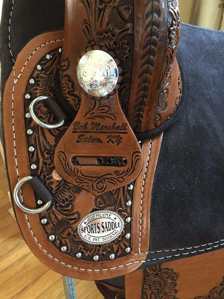 equestrian horse saddle custom barrel antique brown