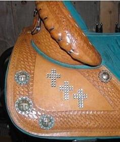 equestrian horse saddle custom cross