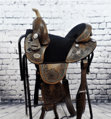 Equestrian horse western saddle for sale