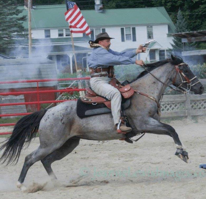 Equestrian horse saddle rider western