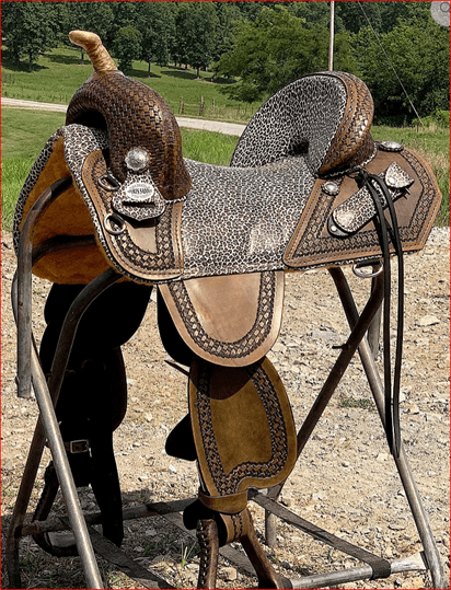 Genuine Bob Marshall Original Treeless Custom Barrel Racer Sports Saddle