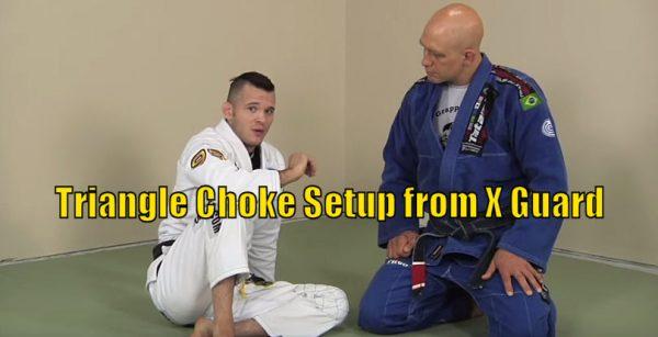 How to do a Triangle Choke Setup from X Guard