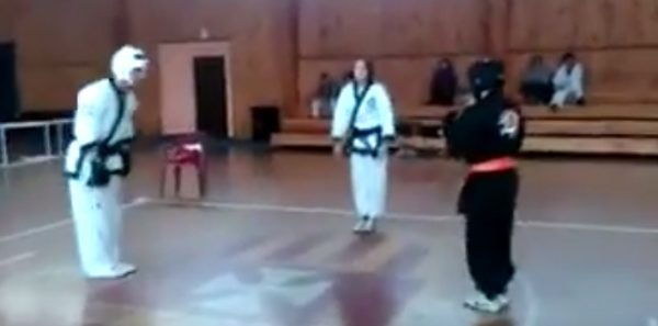 Black Belt hurts his own student in front of everyone