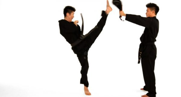 How to Do a Jump Front Kick in Taekwondo