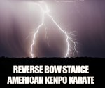 The Reverse Bow from Kenpo Karate