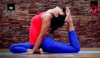This is Learn Extended one Legged Pigeon or Uttahita Eka Pada Kapotasana