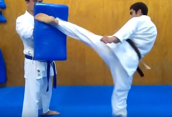 This is Mawashi Tobi Geri - Round House Jumping Kick