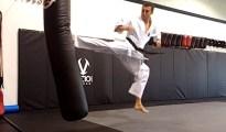 This is Ushiro Tobi Geri - Back Jumping Kick