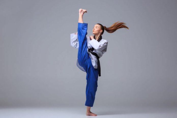 The Axe Kick in Taekwondo Demo