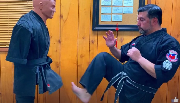 Front Scoop Kick in Kenpo Karate