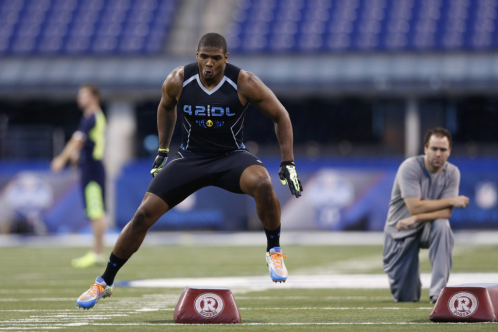 Michael Sam at the 2014 NFL Combine