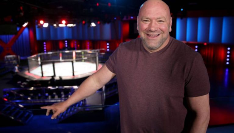 Dana White showed a picture of the octagon on Fight Island in Abu Dhabi