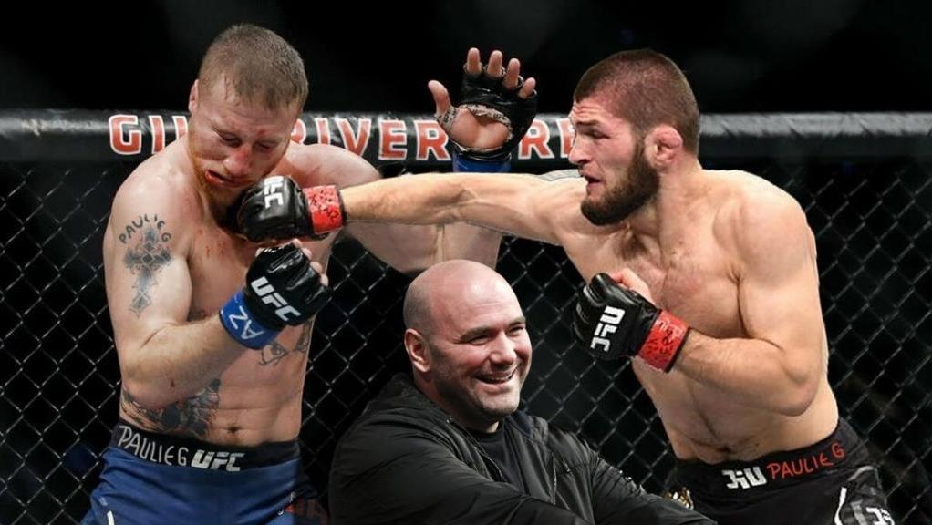 Dana White told the story how Khabib made fun of Gaethje during the fight