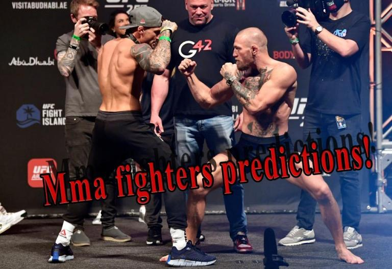 MMA fighters named the favorite to win the fight Conor McGregor – Dustin Poirier