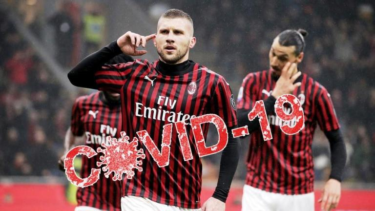 Two Milan players test positive for COVID-19 before playing against Juventus
