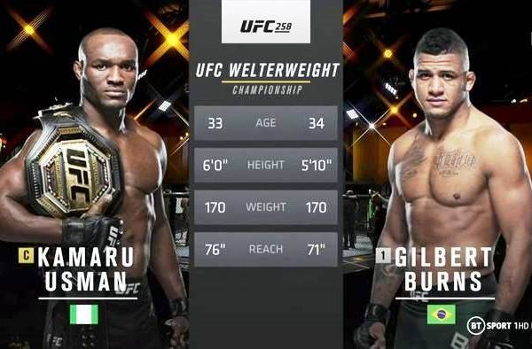 Fight Video Kamaru Usman vs. Gilbert Burns 14.02.2021