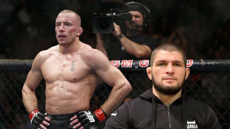 Khabib Nurmagomedov explained why he will not fight with Georges St-Pierre at welterweight.