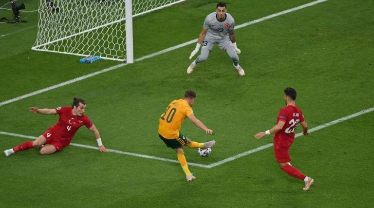 Gareth Bale's stunning assist for Aaron Ramsey's opener against Turkey at Euro 2020