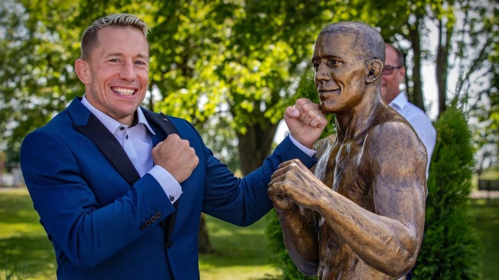 Georges St-Pierre immortalized with a statue in hometown that looks more like Barack Obama