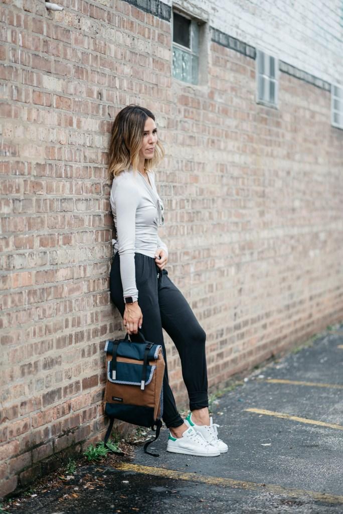 Mott 50 Open Cardigan, Travel Fashion, Quay Sunglasses, Chicago Fashion Blogger, Stan Smith Adidas