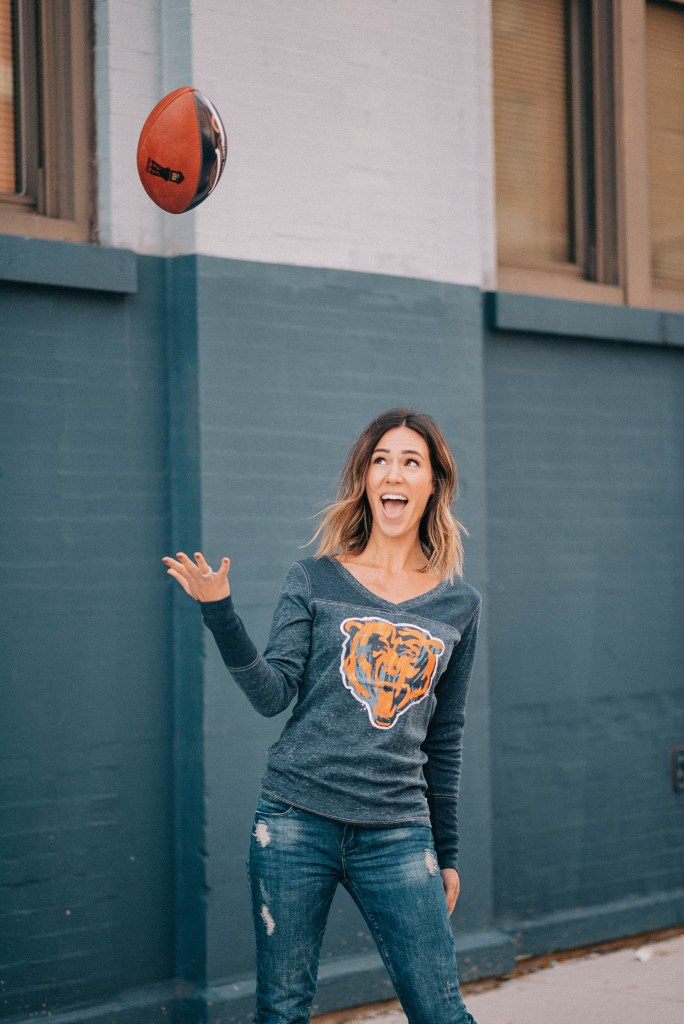chicago Bears long sleeve and Touch by Alyssa Milano