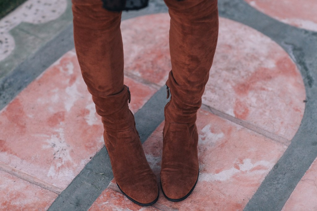 Blogger Mary Krosnjar wearing Dolce Vita Neely Boot