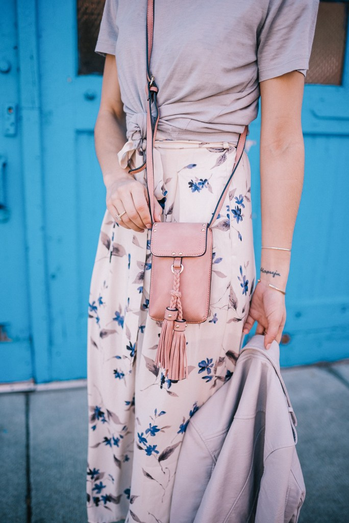 Iphone Crossbody with Tassel and Floral pants