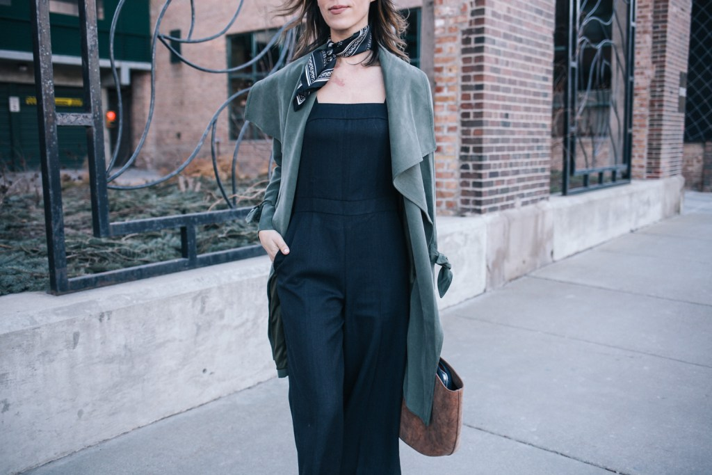 NYFW Club Monaco Collection and Club Monaco Chambray Jumpsuit