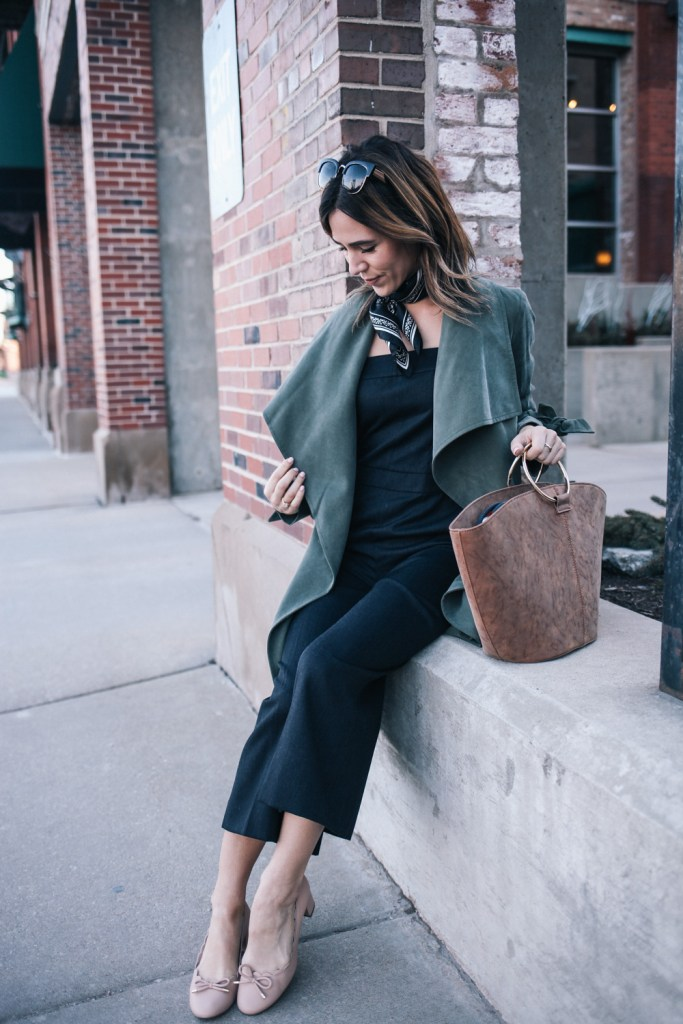 NYFW Club Monaco Collection and Who What Wear Suede Tote Bag