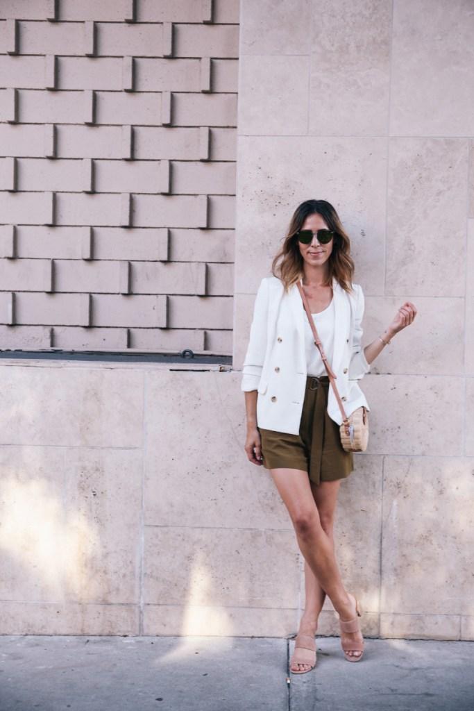 Chicago Fashion Blogger and J.Crew White Blazer