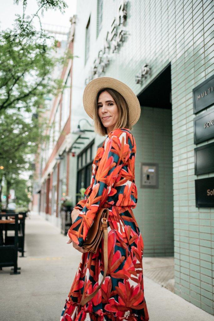 Blogger Mary Krosnjar wearing Ruffle Hem Maxi Tank Dress