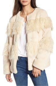 BCBGeneration Mixed Faux Fur Jacket