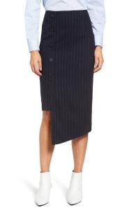 Halogen® Button Detail Asymmetrical Skirt