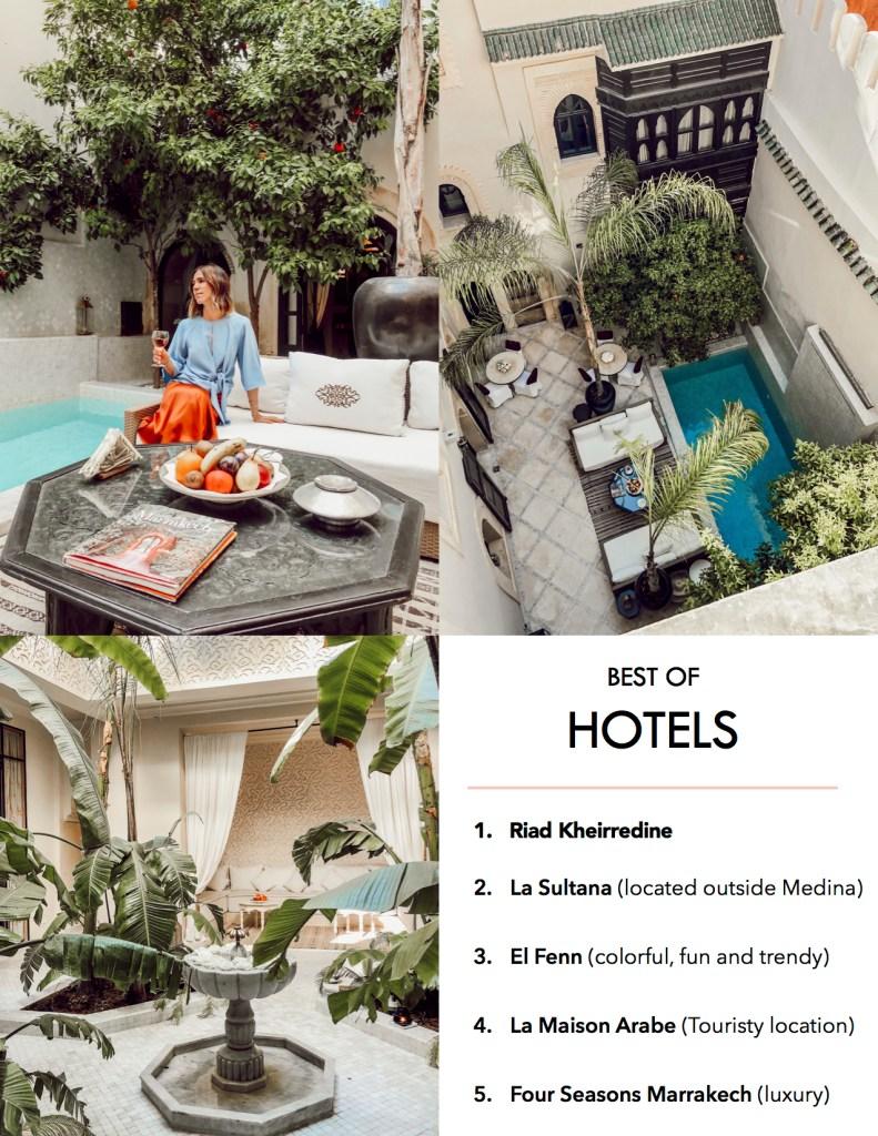 Best hotels in Marrakech