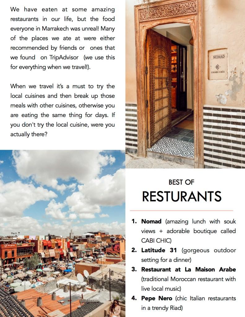 Best resturants in Marrakech
