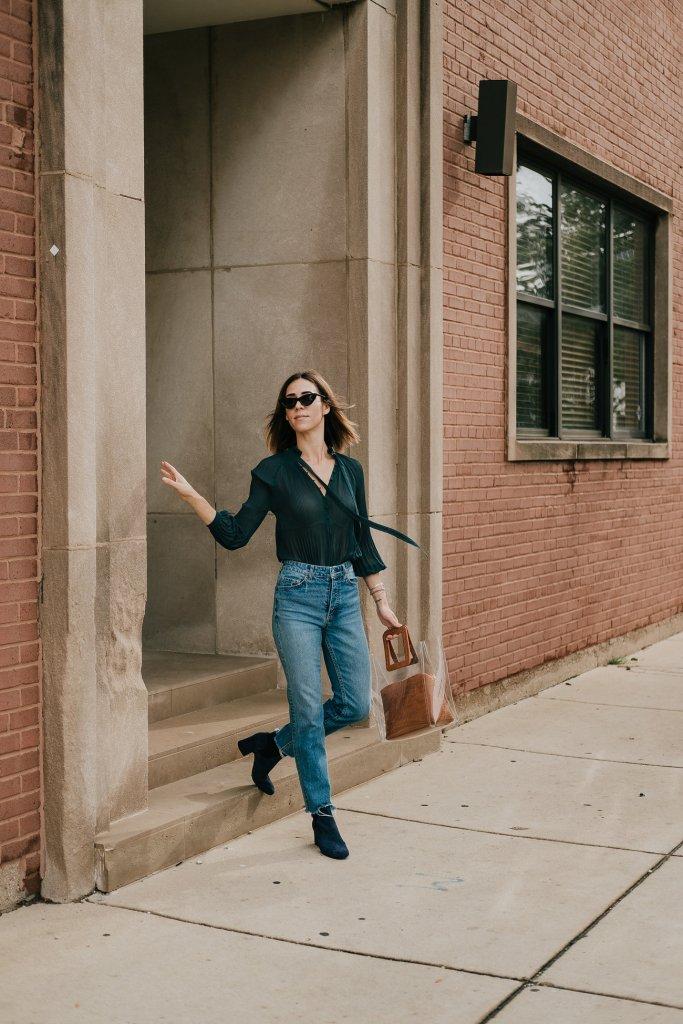 Blogger Mary Krosnjar sharing fall fashion ideas