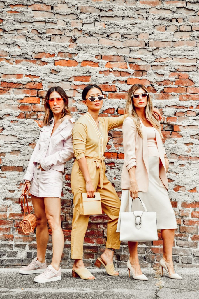 Seattle Fashion Blogger Sportsanista, E for Elisa and The Grey Edit sharing their favorite monochromatic looks