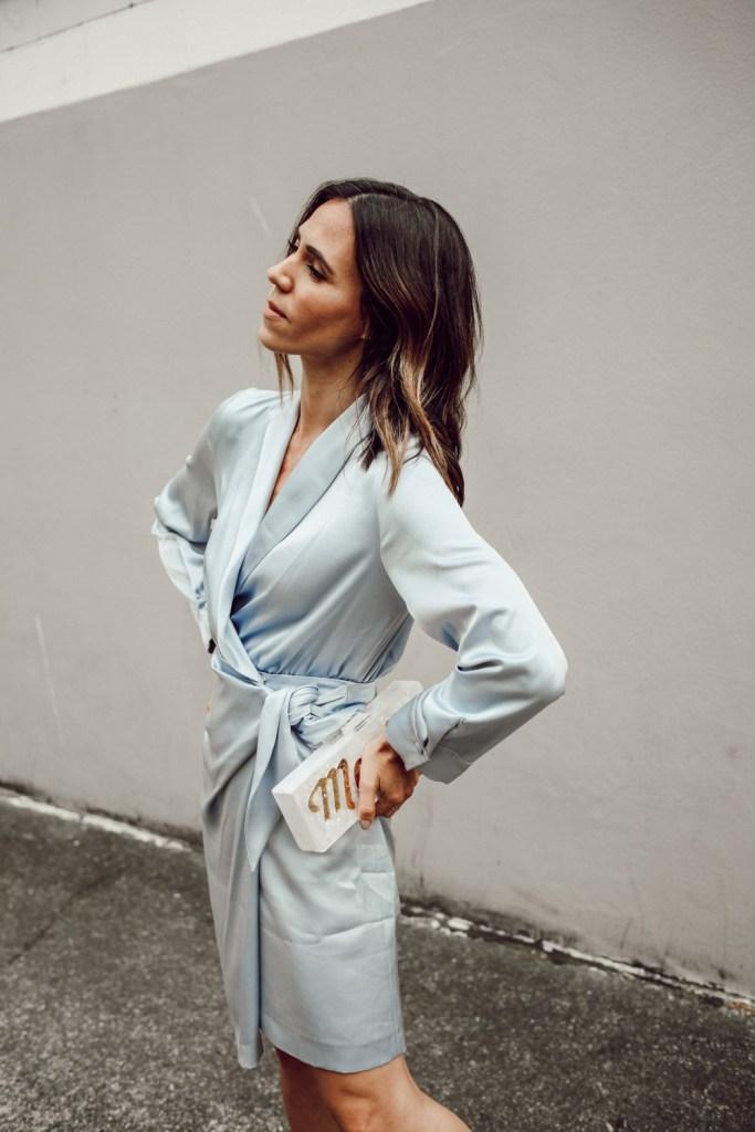Seattle Fashion Blogger Sportsanista wearing Nanushka Siwa Dress