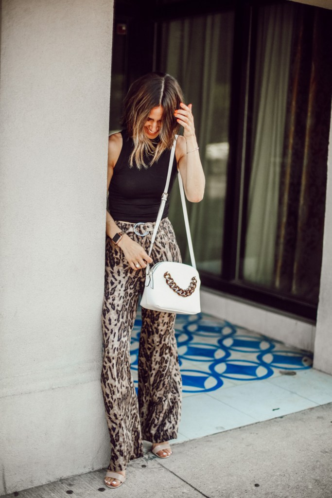 Fashion Blogger Sportsanista sharing how to create a look for work to happy hour with leopard print