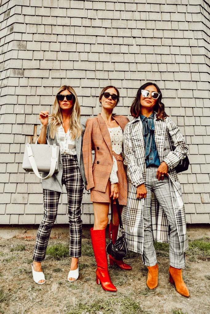 Seattle Stylelogue wearing transitional plaid for fall 2019