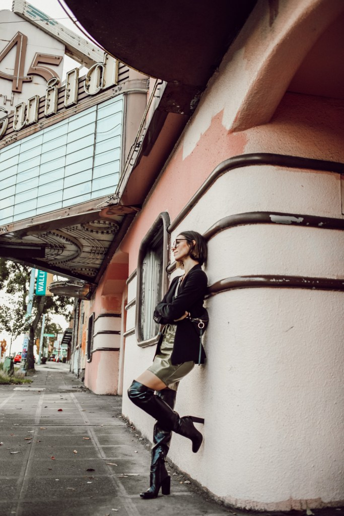 Seattle Fashion Blogger Sportsanista wearing BCBG Over the Knee boots for Fall