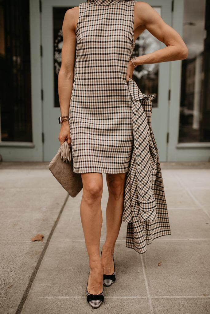 Ann Taylor, Fall Style, Classic Plaid Dress, Workwear Style Workwear Fashion