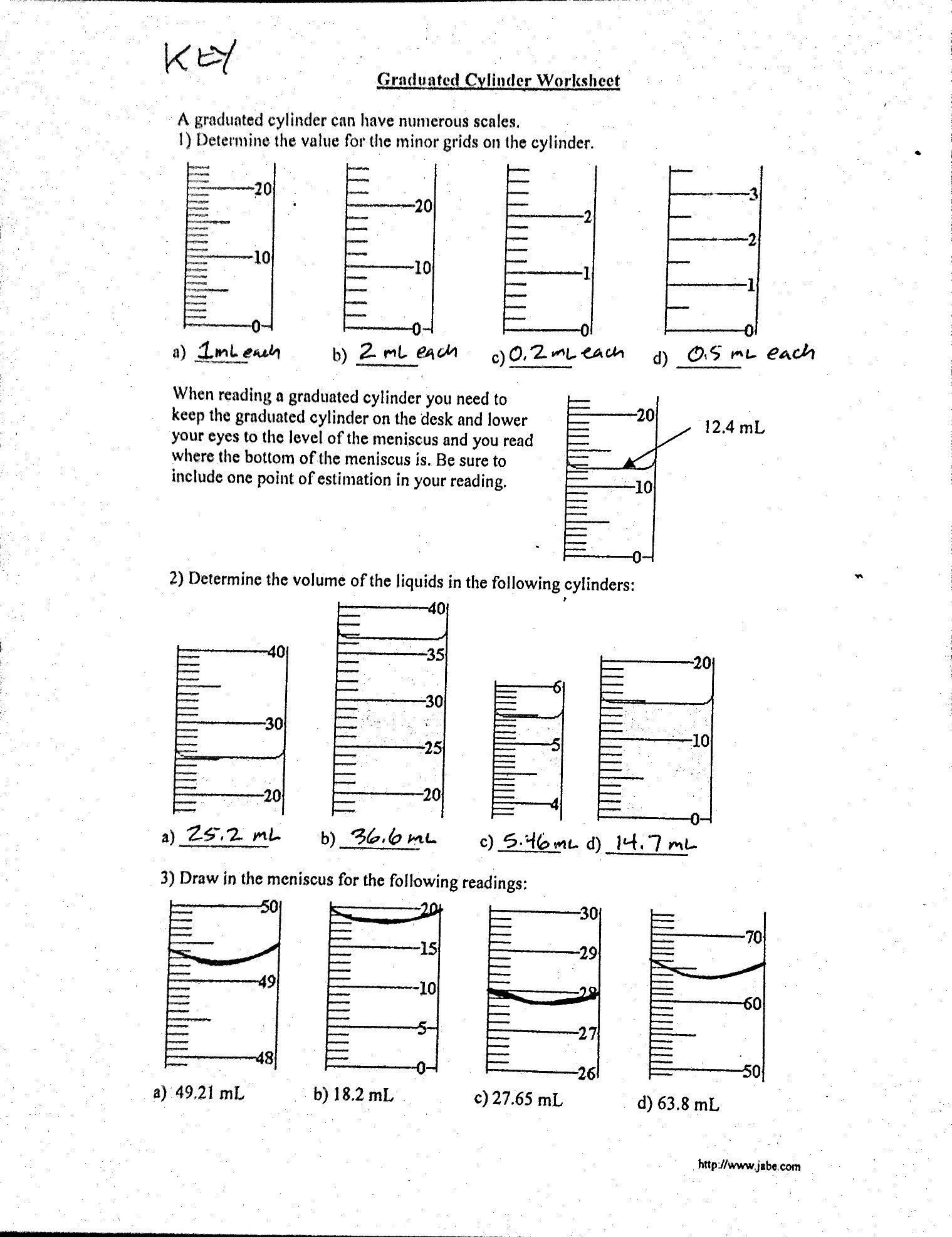 20 Measuring Liquid Volume Worksheet Answers