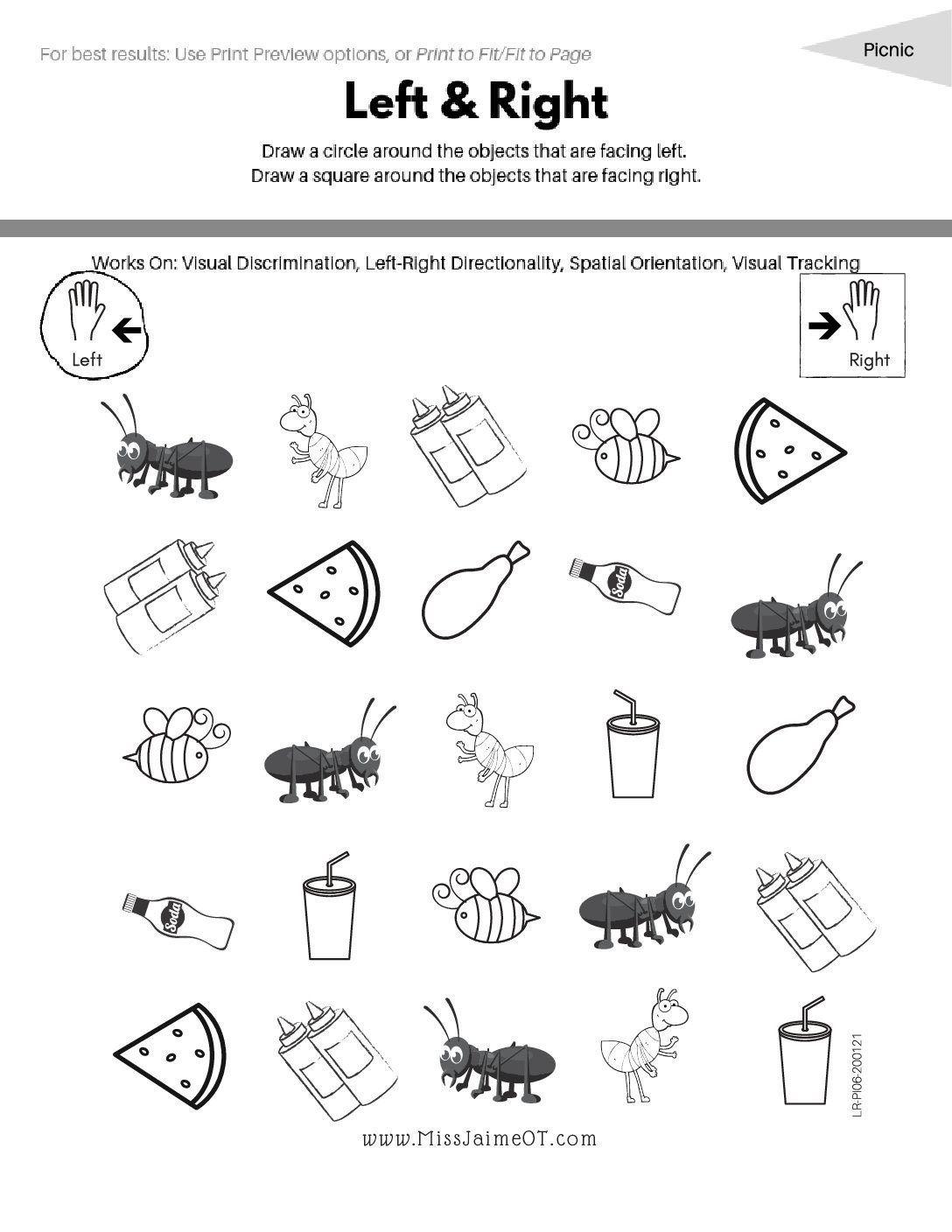 Spatial Relations Worksheets Spatial Relations Dictation