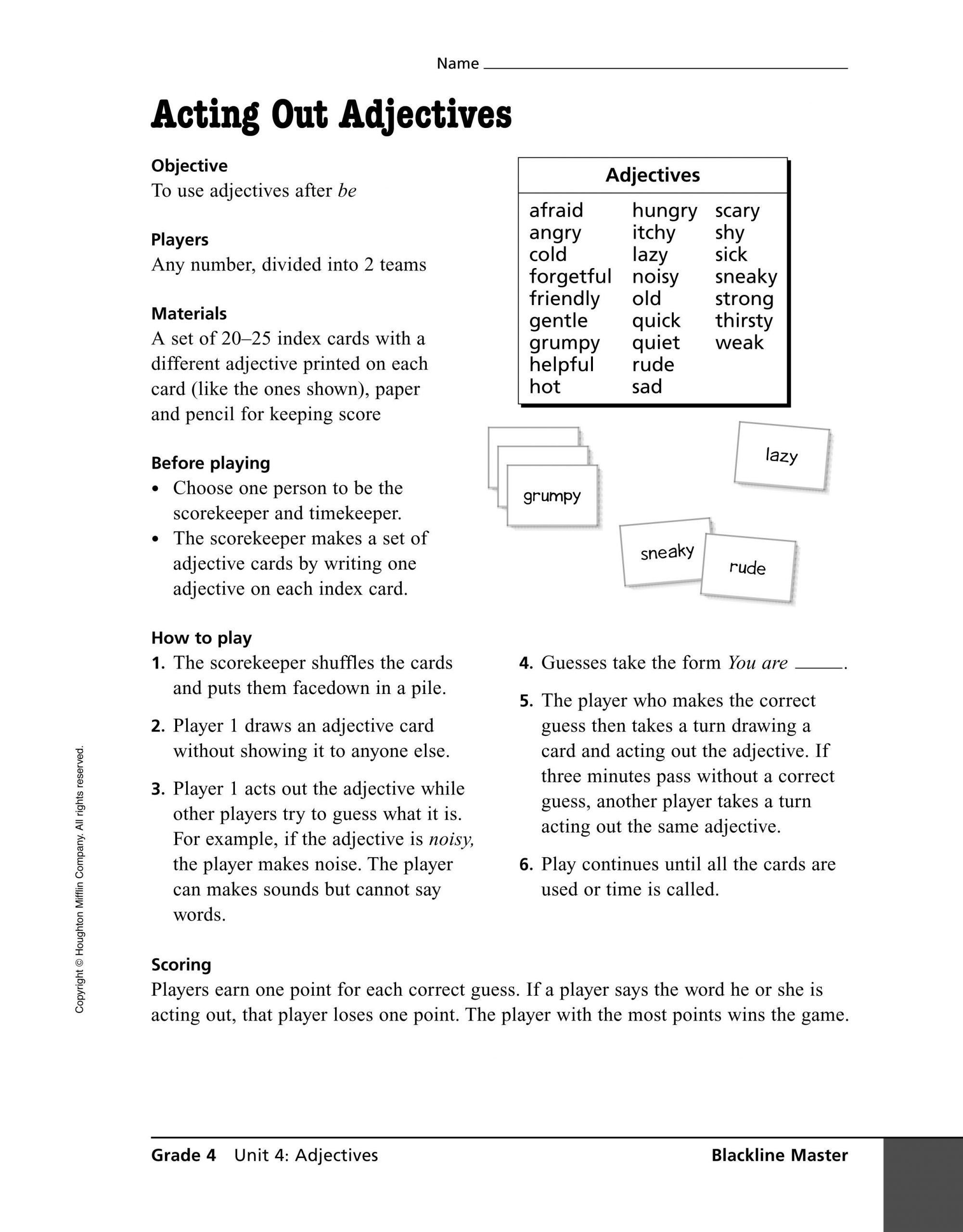 20 Act Grammar Worksheets