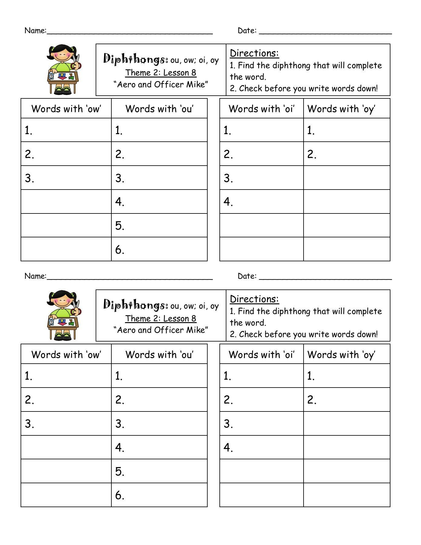 hight resolution of Ou Diphthong Worksheet   Printable Worksheets and Activities for Teachers