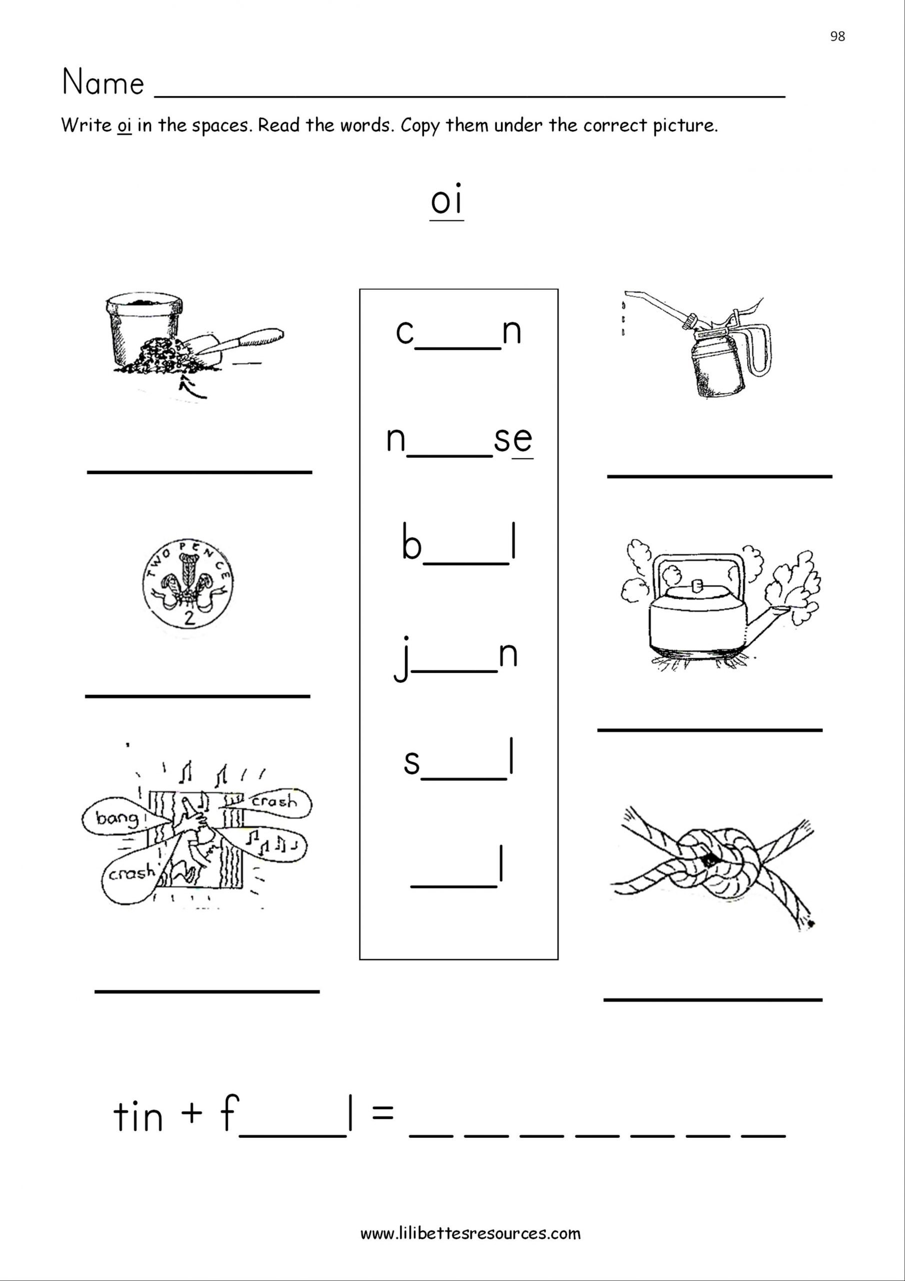 20 Oi Words Worksheet