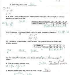 Variation Math Worksheet   Printable Worksheets and Activities for  Teachers [ 2338 x 1700 Pixel ]