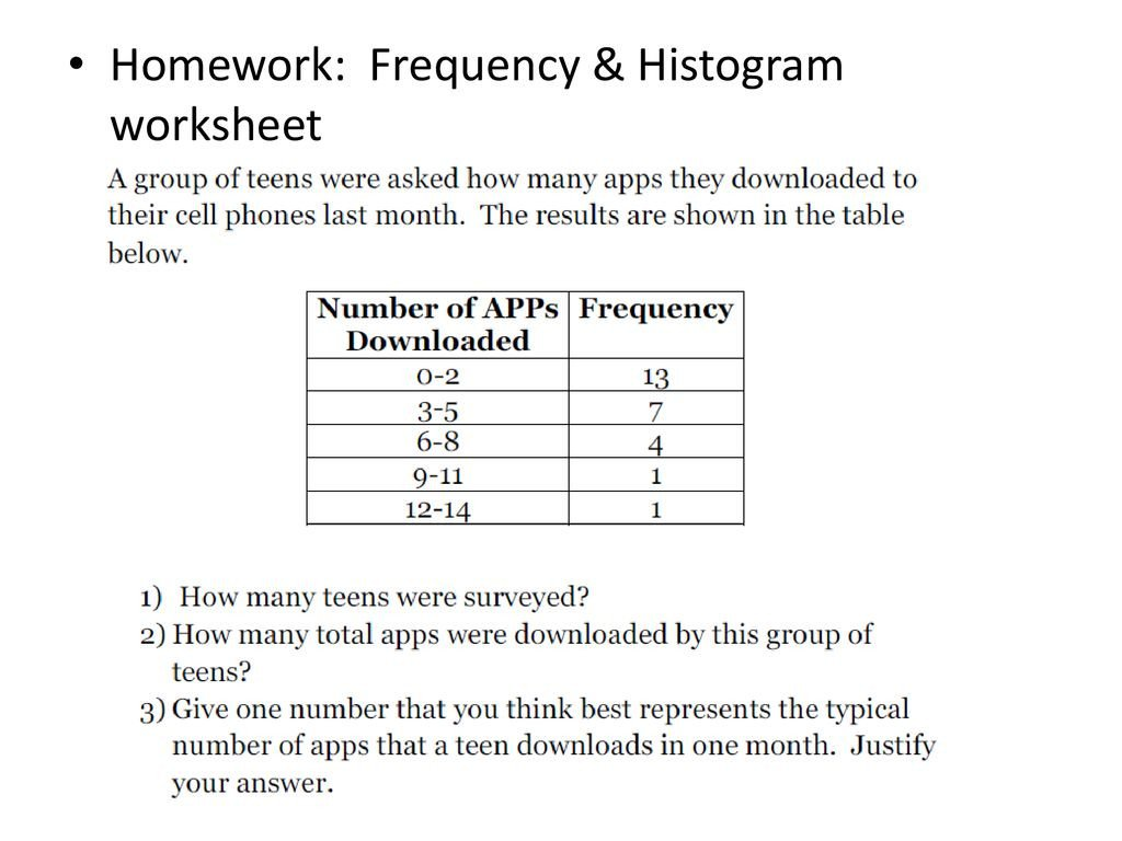 20 Frequency Table And Histogram Worksheet
