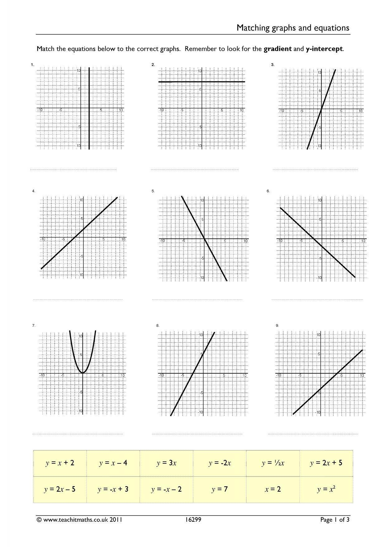 20 Function Table Worksheets